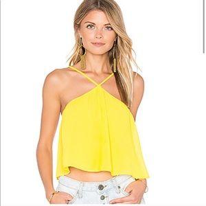 Show me your MuMu lex yellow halter cami 💛